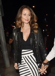 STACY KEIBLER - Out for Dinner in West Hollywood 10/06/2016