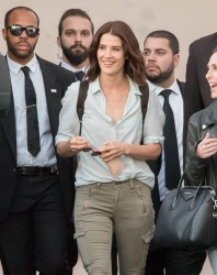 Cobie Smulders - Leaving Jimmy Kimmel Live in Hollywood 10/17/16