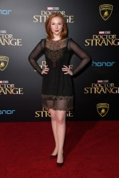 "Molly Quinn attends the premiere of  ""Doctor Strange"" 10/20/16"