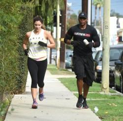 Katharine McPhee Out Running in Los Angeles - 10/29/16