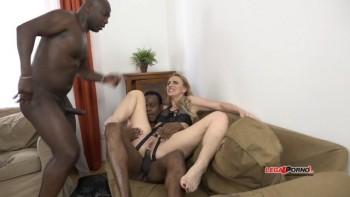 Affina Kisser and Allen Benz 4on2 intense hard interracial kinky fucking IV004 (2016) 720p