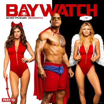 Alexandra Daddario, The Rock, and Kelly Rohrbach wishing you a Happy Halloween