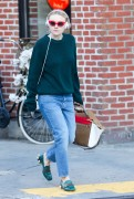 Dakota Fanning - in Jeans out in Soho November 1, 2016