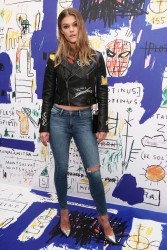 Nina Agdal - alice + olivia x Basquiat CFDA Capsule Collection Launch Party in NYC 11/2/16