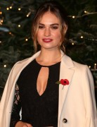Lily James -               A Very British Fairytale Harrod's London November 3rd 2016.