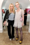 Dakota and Elle Fanning - Anton Yelchin Photography Exhibit in LA November 7, 2016
