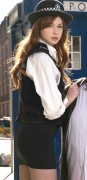 Karen Gillan Kissogram outfit