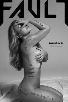 Anastacia, FAULT MAGAZINE (naked cover)