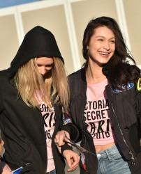 Bella Hadid - Angels Depart for Paris for the 2016 Victoria's Secret Fashion Show 11/27/16
