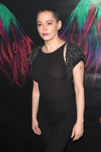 Rose Mcgowan - See-through Attending The Charliewood Exhibition Opening (11/28/16 )