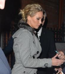 Jennifer Lawrence - Leaving her hotel in London 12/1/16