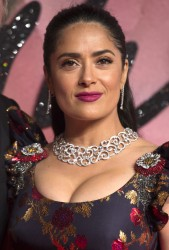 Salma Hayek - Very Nice Cleavage Arriving At The Fashion Awards in London (12/5/16 )